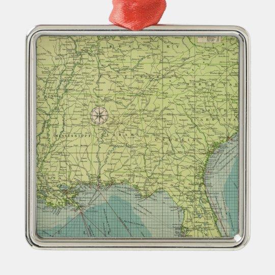 Southern American Atlantic ports Metal Ornament