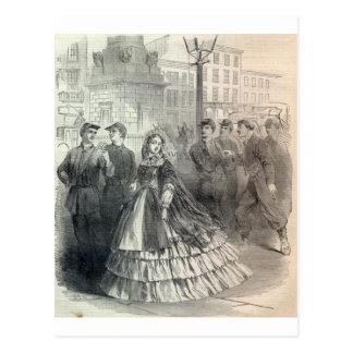 Southern belle, 1861 postcard