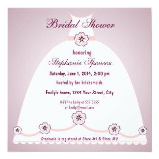 "Southern Belle Bridal Shower Invitation 5.25"" Square Invitation Card"