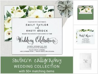 Southern Belle Calligraphy Wedding Collection
