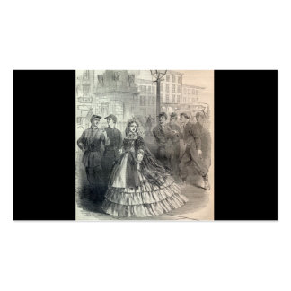 """""""Southern belle"""" circa 1861 Double-Sided Standard Business Cards (Pack Of 100)"""