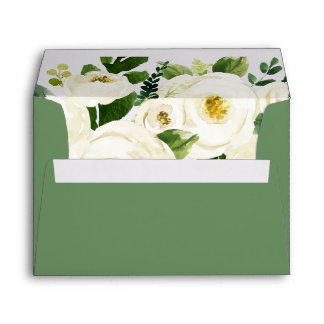 Southern Belle | Floral Wedding Invitation Envelope