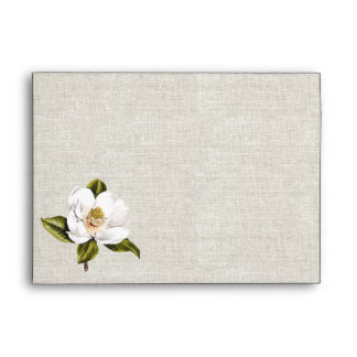 Southern Belle Magnolia Custom Wedding Envelope