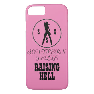 Southern Belle Raising Hell iPhone Case