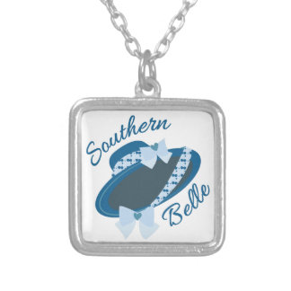 Southern Belle Square Pendant Necklace