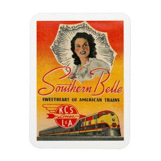 Southern Belle Train Railroad Vintage Magnet