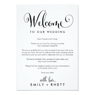 Southern Belle Wedding Welcome Letter & Itinerary Invitation