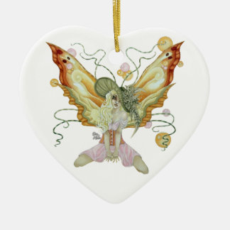 Southern Bellepunk: Just Peachy Double-Sided Heart Ceramic Christmas Ornament