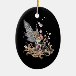 Southern Bellepunk- The Bubble Blower Double-Sided Oval Ceramic Christmas Ornament