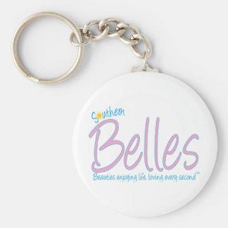 Southern Belles - Beauties Enjoying Life, Loving E Basic Round Button Keychain