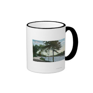 Southern Blvd View of Central Park and Lake Coffee Mug