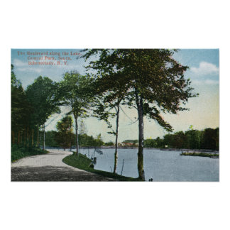 Southern Blvd View of Central Park and Lake Posters