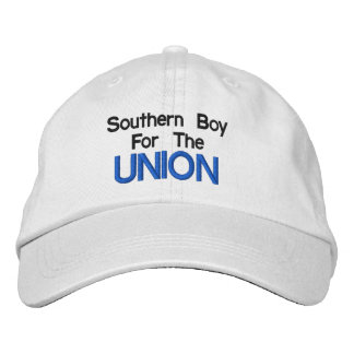 Southern Boy For The Union Hat Embroidered Baseball Caps