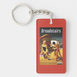 Southern British Railways Family on Beach Keychain