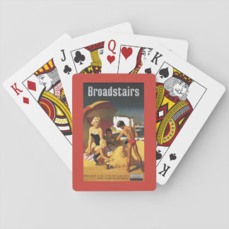 Southern British Railways Family on Beach Playing Cards