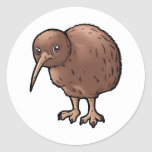 Southern Brown Kiwi Classic Round Sticker