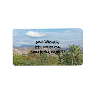 Southern Cali Canyons Address Label