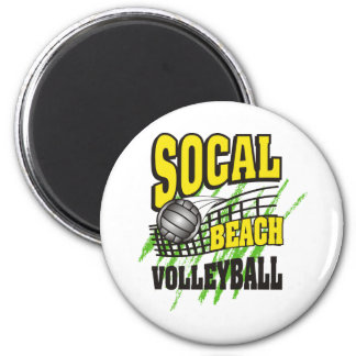 Southern California Beach Volleyball 2 Inch Round Magnet