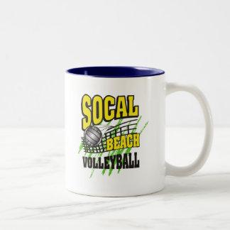 Southern California Beach Volleyball Gift Two-Tone Coffee Mug