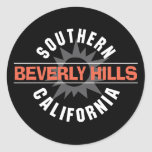 Southern California Beverly Hills Round Stickers