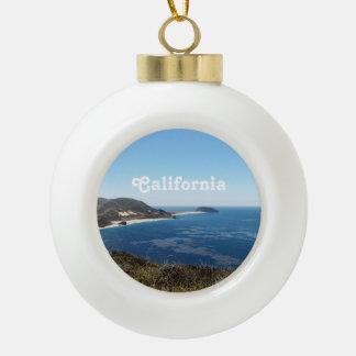 Southern California Ceramic Ball Christmas Ornament