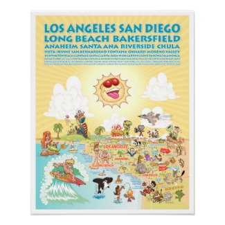 Southern California Cities Poster