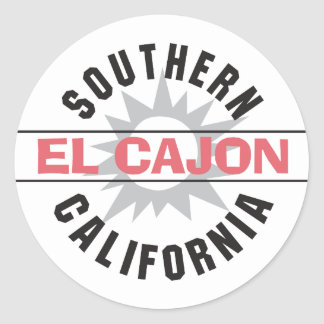 Southern California - El Cajon Classic Round Sticker