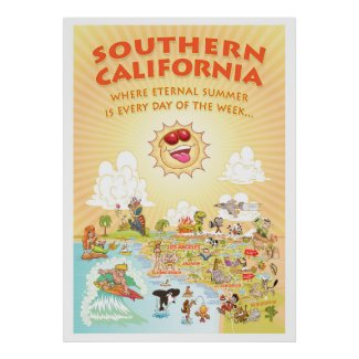 Southern California Eternal Summer Giant Poster
