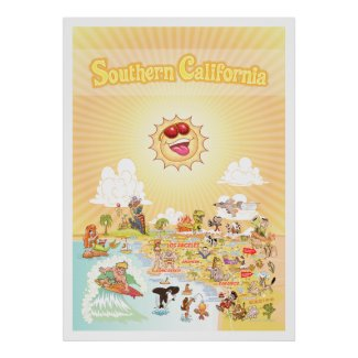 Southern California Golden State Giant Poster