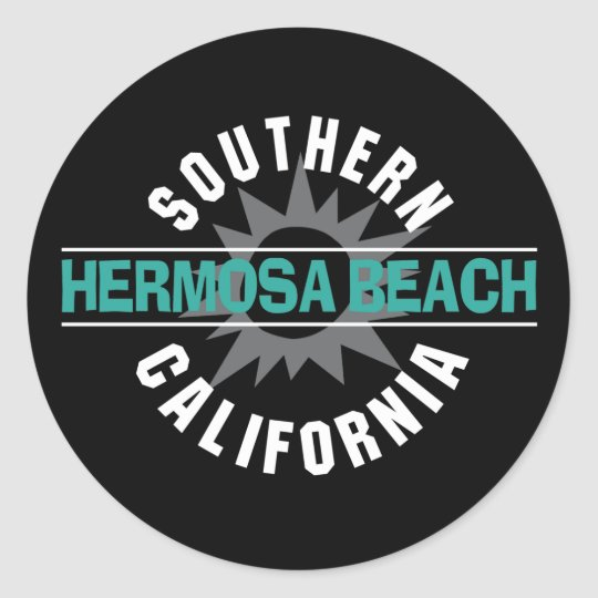 Southern California - Hermosa Beach Classic Round Sticker