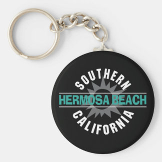 Southern California - Hermosa Beach Basic Round Button Keychain