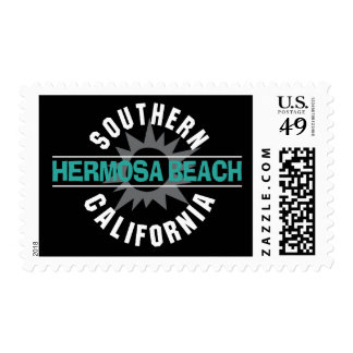 Southern California - Hermosa Beach Postage Stamps