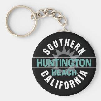 Southern California - Huntington Beach Basic Round Button Keychain