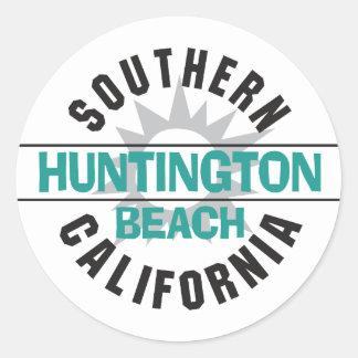 Southern California - Huntington Beach Classic Round Sticker