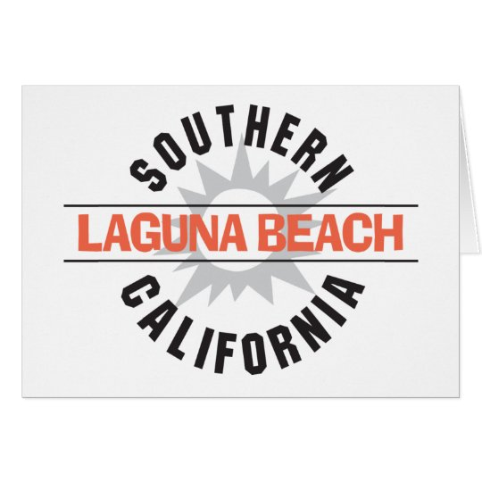 Southern California Laguna Beach Card