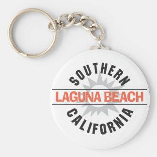 Southern California Laguna Beach Basic Round Button Keychain