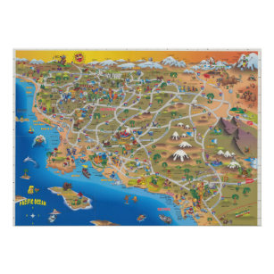 Southern California map Poster