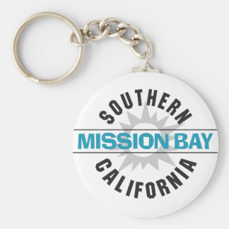 Southern California - Mission Bay Basic Round Button Keychain