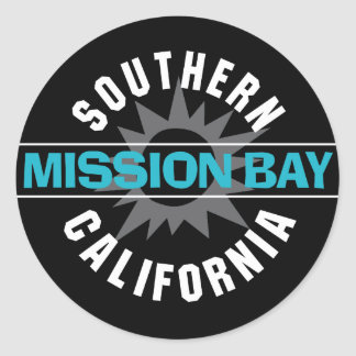 Southern California - Mission Bay Classic Round Sticker