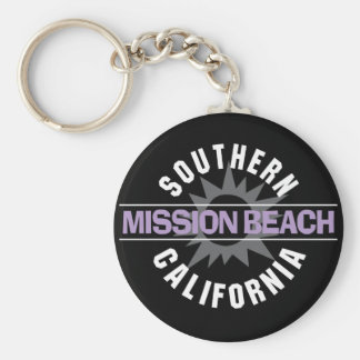 Southern California - Mission Beach Basic Round Button Keychain