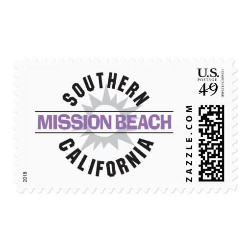 Southern California - Mission Beach Stamp