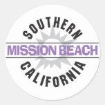Southern California - Mission Beach Classic Round Sticker