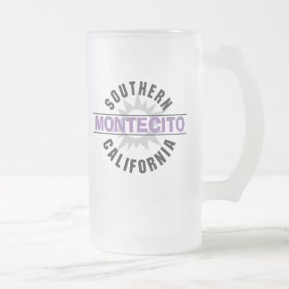 Southern California - Montecito Frosted Glass Beer Mug