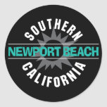 Southern California - Newport Beach Round Sticker