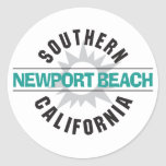 Southern California - Newport Beach Round Stickers