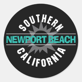 Southern California - Newport Beach Classic Round Sticker