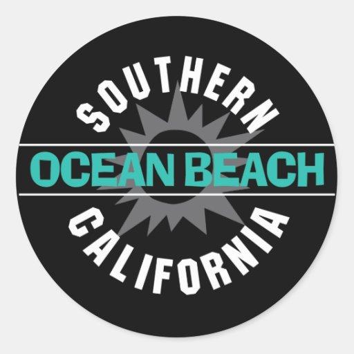 Southern California - Ocean Beach Round Stickers