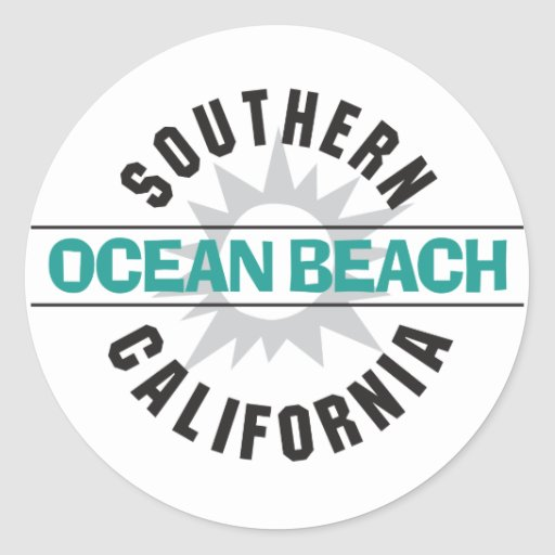 Southern California - Ocean Beach Round Sticker