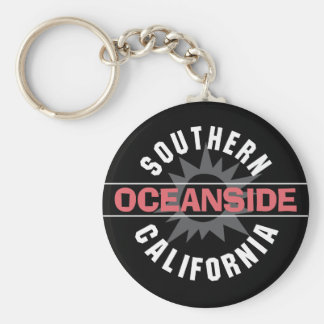 Southern California - Oceanside Basic Round Button Keychain