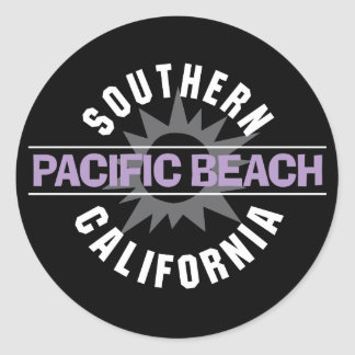 Southern California - Pacific Beach Classic Round Sticker